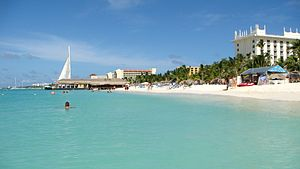 English: Aruba. Palm Beach