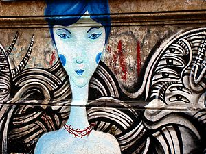 Street art in Buenos Aires, Argentina.