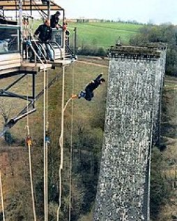 Bungee Jump in Normandy, France (Souleuvre Viaduct)