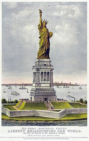 The great Bartholdi statue, liberty enlighteni...