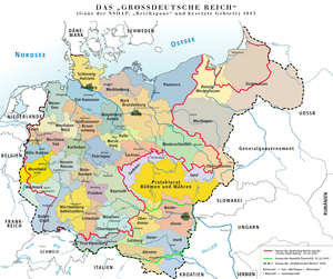 Karte des »Großdeutschen Reiches« 1943 / Map o...