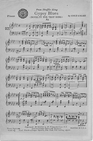 """""""Gypsy Blues"""" (sheet music) page 1 of 2."""