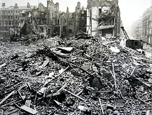 Extensive bomb and blast damage to Hallam Stre...
