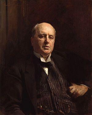 Henry James, by John Singer Sargent (died 1925...