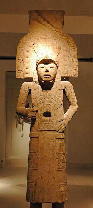 Huastec statue. Stone, Tampico region (México)...