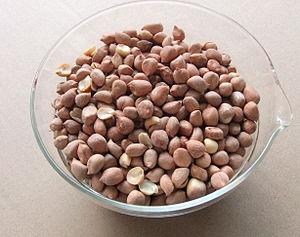 Bali salted peanuts. 日本語: バリ島の定番おみやげ。塩味ピーナッツ。