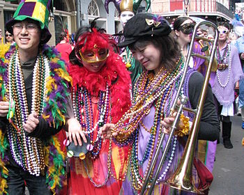 Mardi Gras day in the French Quarter of New Or...