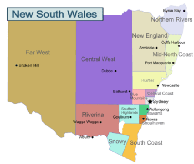 New South Wales Regions