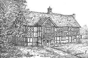 English: Engraving of the Old Grammar School, ...