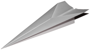 English: Paper airplane