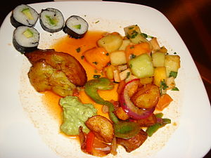 My vegan breakfast from the Mirage buffet