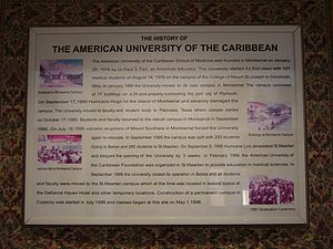 A plaque placed in the rotunda at AUC