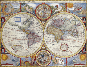 A New And Accvrat Map Of The World.