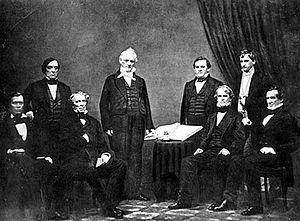 President Buchanan and his Cabinet From left t...