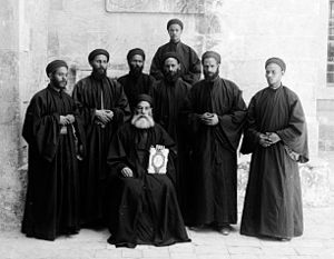 Costumes and characters, etc. Coptic monks.