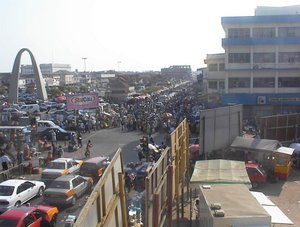 Downtown Accra, capital of Ghana. Picture take...