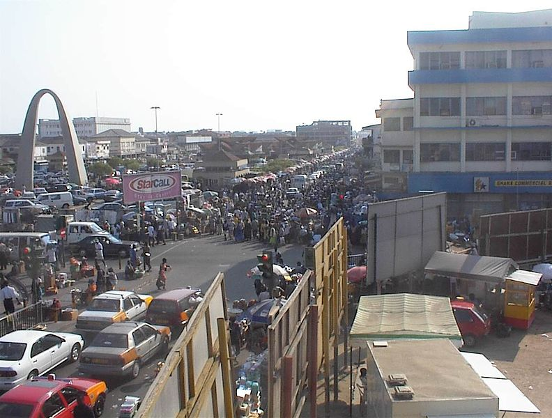Ghanaian capital and birthplace of hiplife, Accra