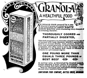 An advertisement for the trademarked food Gran...