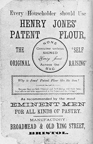 English: Ad for Henry Jones Self-Raising Flour...