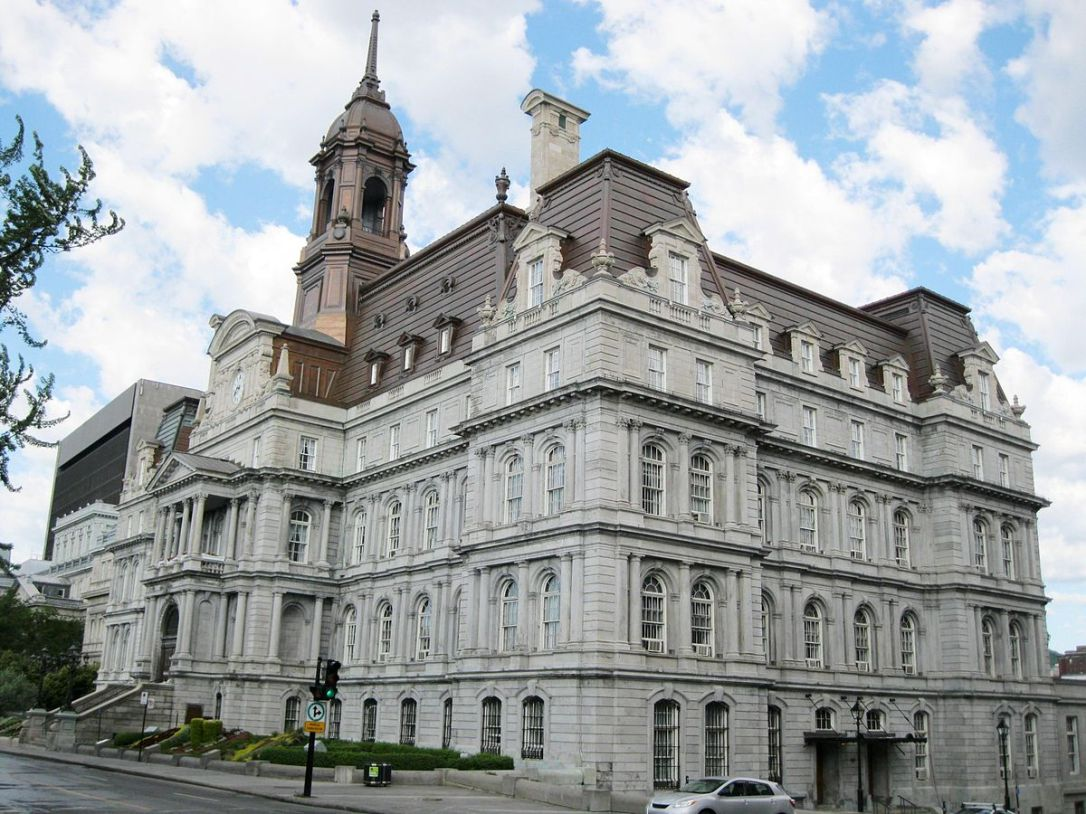 نتيجة بحث الصور عن hôtel de ville de montréal