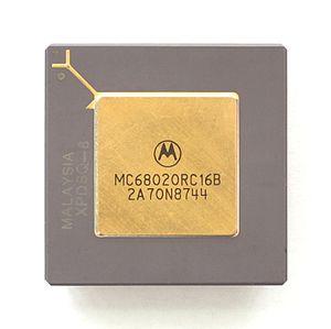 English: CPU Motorola MC68020
