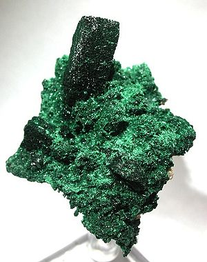 English: Malachite, Azurite :: Locality: Tsume...