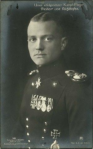 Manfred von Richthofen from Sanke card #450. T...