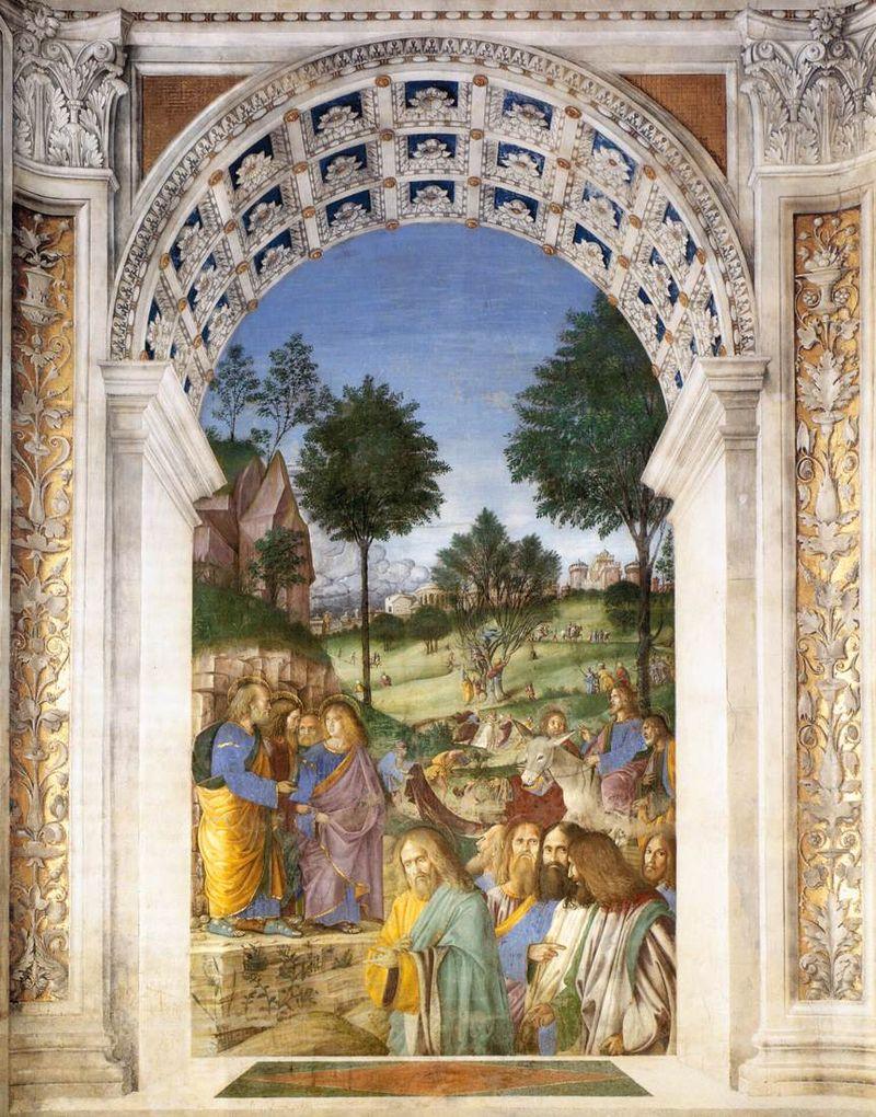 Afresco de Melozzo da Forlì em Loreto, região Marche
