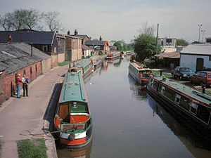 Middlewich The canal wharf at Middlewich on th...