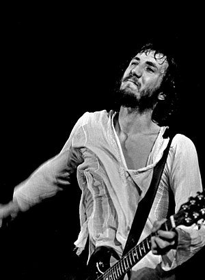 Lead guitarist Pete Townshend performing in Ha...