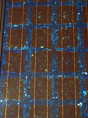 Solar cells on a Photovoltaic panel at the Nat...