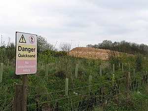 English: Quicksand! Gravel extraction leaves i...