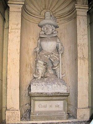 Sculpture of Pertermännchen in facade in the c...