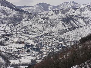 Italiano: Paese di Vallio con la neve