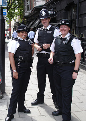 English: Metropolitan Police Officers in Soho,...