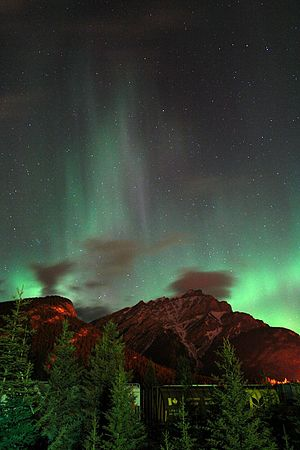 Aurora at Banff, Canada (Cascade Mountain}