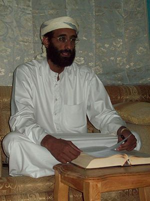 English: Imam Anwar al-Awlaki in Yemen October...