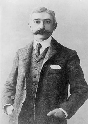 Baron Pierre de Coubertin, half-length portrai...