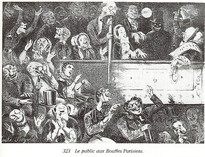 "Caricature: The Audience at ""Les Bouffes ..."