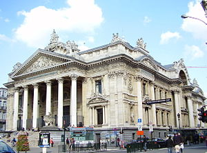 The Brussels Stock Exchange, designed by Suys.