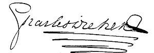 Signature of Charles Dickens