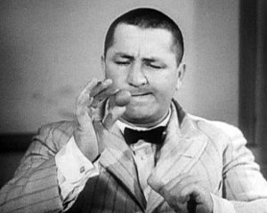 Frame of the actor and comedian Curly Howard f...