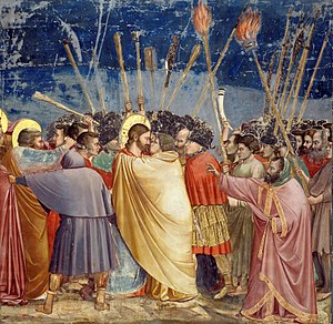 The Kiss of Judas, by Giotto di Bondone