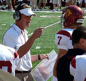 English: USC Trojans football Head Coach Lane ...