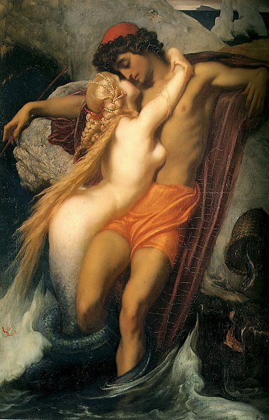 Frederic Leighton, The Fisherman and the Syren, 1856