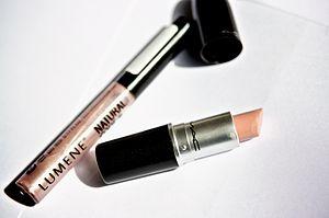 Lipstick and lipgloss
