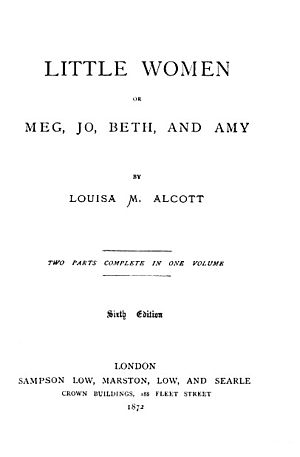 Title page of the sixth edition of the novel L...
