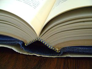 Picture of an open book, that does not show an...