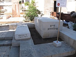Haim Arlosoroff grave at the Trumpeldor Cemete...