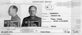 Detention report and Mugshots of Joachim von R...